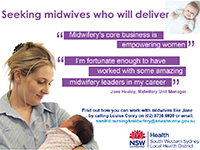Seeking midwives who will deliver
